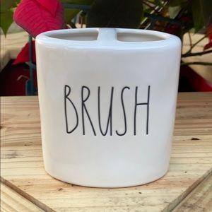 New Rae Dunn BRUSH Toothbrush Holder